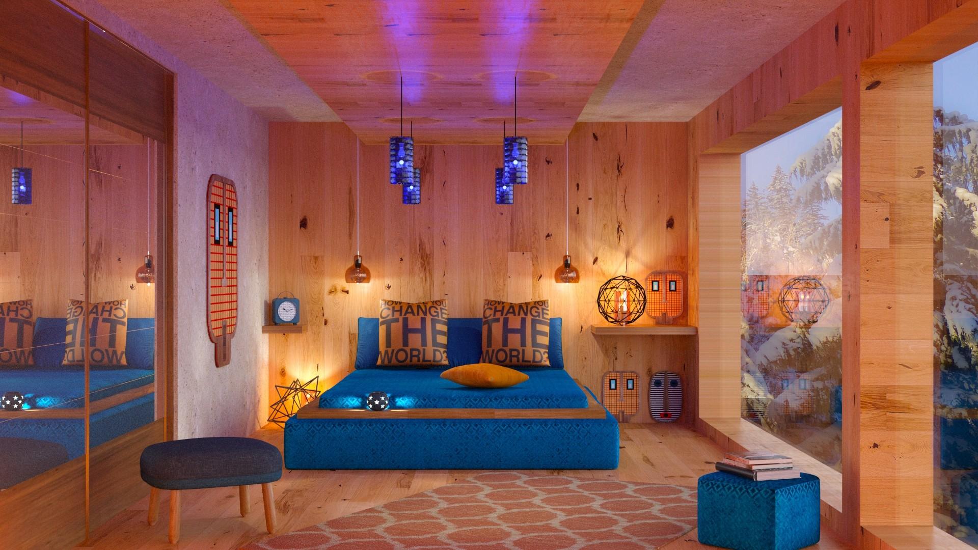 Orange Blue Bedroom contest on Roomstyler