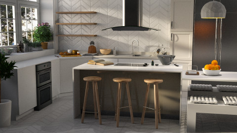 Light As Air - Modern - Kitchen - by Homepolish