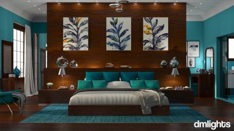 DML_blue and mango  - Bedroom - by Elaenerys