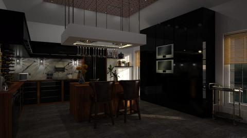 Evening kitchen - Modern - Kitchen - by DMLights-user-991288
