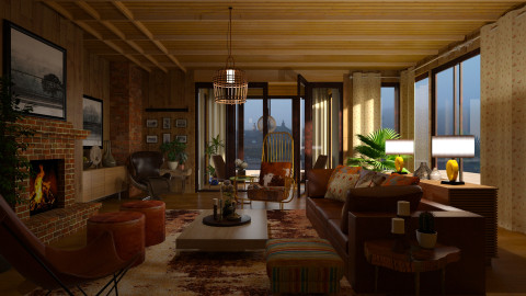 Lodge Life - Rustic - Living room - by janip