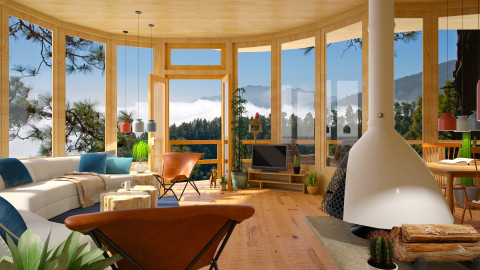 La Palma Cloud Forest - Modern - Living room - by russ