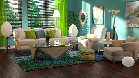 blue green splash - Modern - Living room - by JeroenBekkers