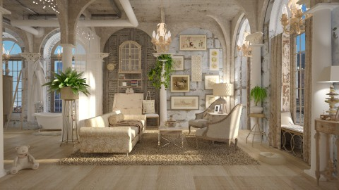 existential - Vintage - Living room - by starsector