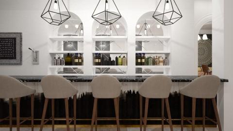 black and white bar - by flokopuffs