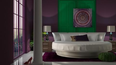 Purple and Green - by DeborahArmelin