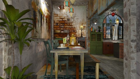 colour full - Vintage - Dining room - by starsector