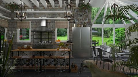 Design 360 Gray and Brown Kitchen - by Daisy320