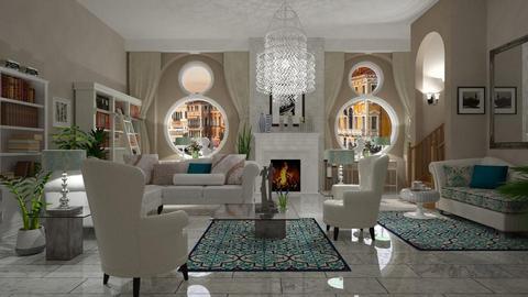 Mushroom_White - Glamour - Living room - by janip