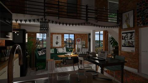 Lifted Loft Living - Living room - by sativah