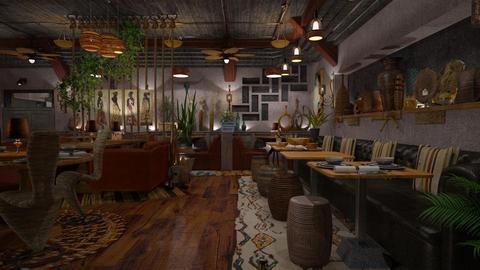 Earthen - Rustic - Dining room - by starsector