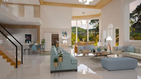 Azul  - Living room - by Roberta Coelho