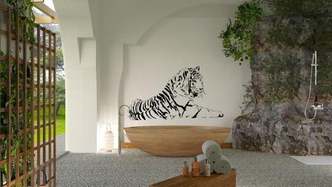 Tiger bath - by barnigondi