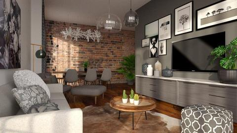 Grey interior  - Living room - by Liu Kovac