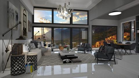 Grey - Living room - by Roberta Coelho