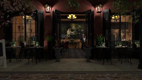 Design 378 French Bistro by Night - Dining room - by Daisy320