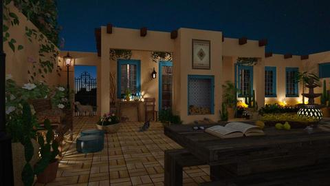 Design 379 Sante Fe Adobe Night - Garden - by Daisy320