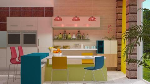 Colorful Kitchen - Kitchen - by JayPH