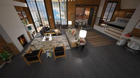 Grande Loft - Living room - by Roberta Coelho
