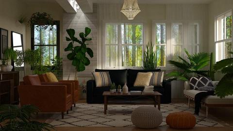 Jungle in the Living - Living room - by DeborahArmelin