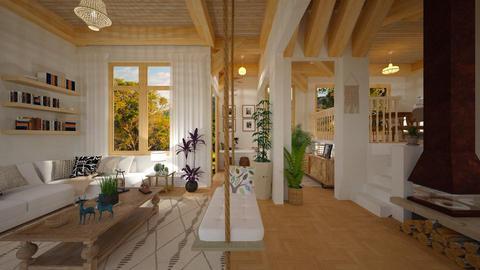 Rustico  - Living room - by Roberta Coelho
