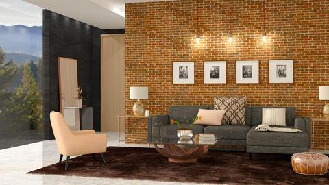Glass and Bricks - Living room - by DeborahArmelin