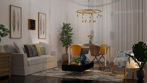 Yellow Chairs in the  - Living room - by sirtsu