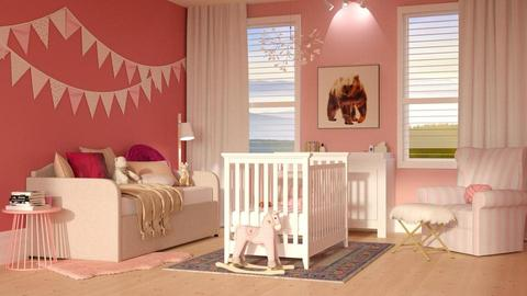 Pink Baby - Kids room - by DeborahArmelin