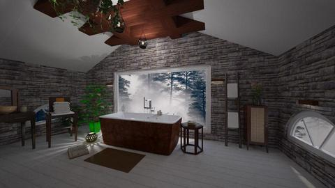 Attic bathroom dark mode - Bathroom - by Vanessa_D