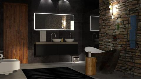 Dark Bathroom - Bathroom - by DeborahArmelin