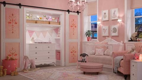 Pink Nursery - Kids room - by maja97