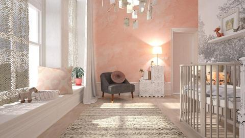 Pink Baby - Feminine - Kids room - by evahassing