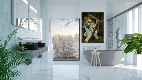 swan bathroom - by barnigondi