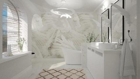 White Wings - Feminine - Bathroom - by evahassing