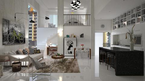 Mezzanine Apartamento - Living room - by Roberta Coelho