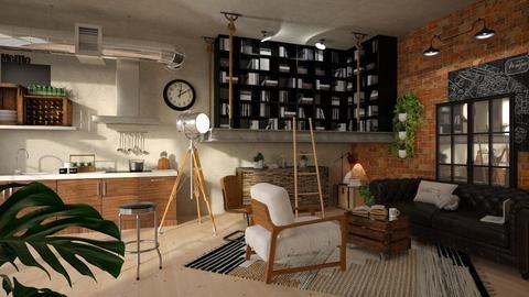 Mezzanine - Retro - Living room - by chad_dp