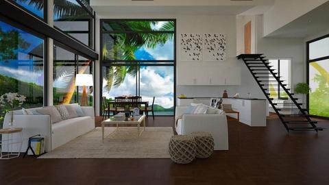 Casa na praia - Living room - by Roberta Coelho