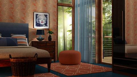 orange and blue - Bedroom - by sirtsu