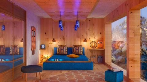 Blue orange bedroom - Modern - by sukica