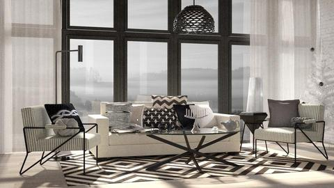 Glossed Neutrals - Living room - by Lifandus