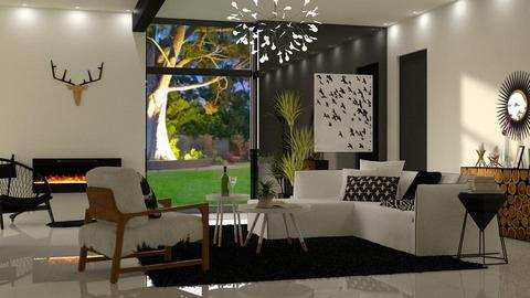 Black and White - Living room - by DeborahArmelin
