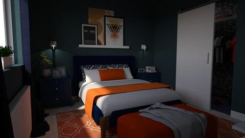 Blue Orange Bedroom - Modern - by meggle