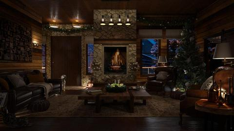 Design 393 Home for Christmas - Living room - by Daisy320