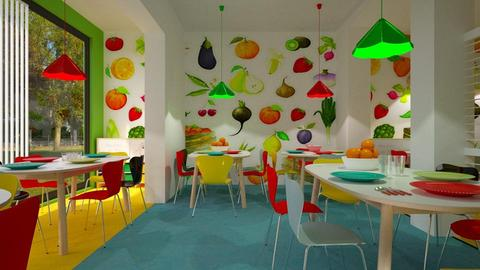 colored school canteen - by rossella63
