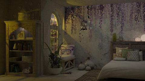 Wisteria in Moonlight - Feminine - Bedroom - by starsector