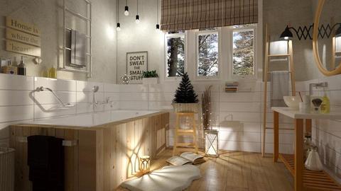 Christmas Bathroom - Rustic - Bathroom - by chad_dp