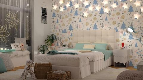Snowflake Bedroom - by meggle