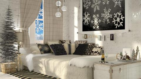 charcoal and chalk - Feminine - Bedroom - by starsector
