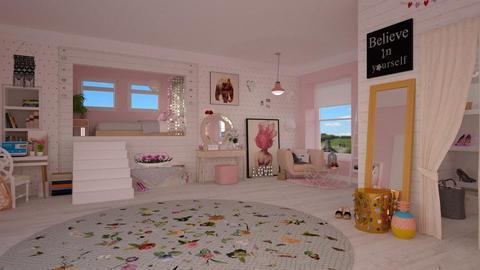 Teen Dream Room - Bedroom - by Nicky West