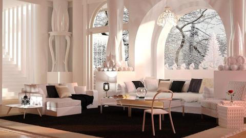 White living - Modern - Living room - by anchajaya